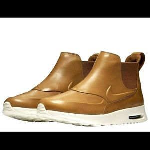 NIKE AIR MAX Thea Mid Ale Brown White Leather Casual 859550